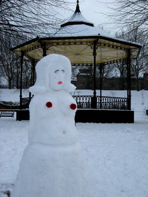 Frozen stiff beside the bandstand