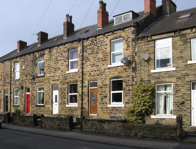 Ossett - terrace on Ryecroft Street