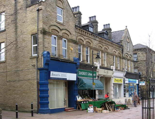 Ossett - shops on south side of Station Road