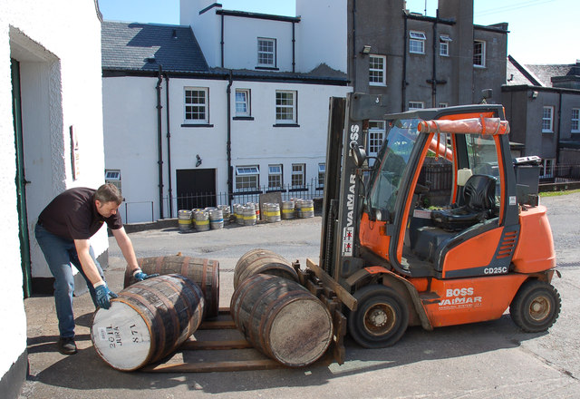 Rolling out the cratur, Isle of Jura Distillery, Craighouse