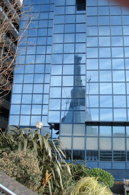 Reflected glory - The Shard under construction