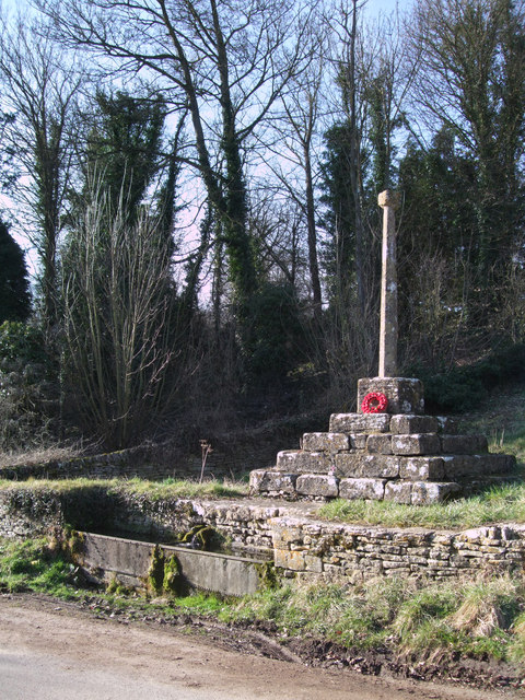 Cross and spring, Calmsden