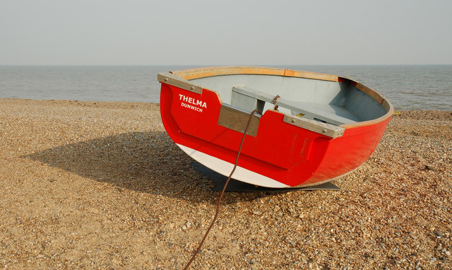 "Red boat, ""Thelma"" of Dunwich"