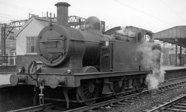 LMS Fowler 0-6-0T at Crewe, south end.