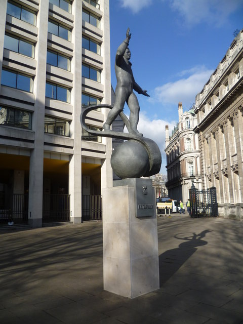 Statue to Yuri Gagarin on the British Council Plaza