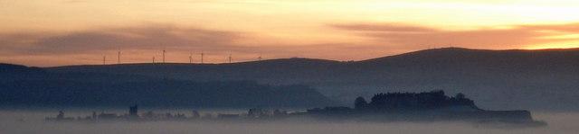 Stirling Castle, afloat on a sea of freezing fog