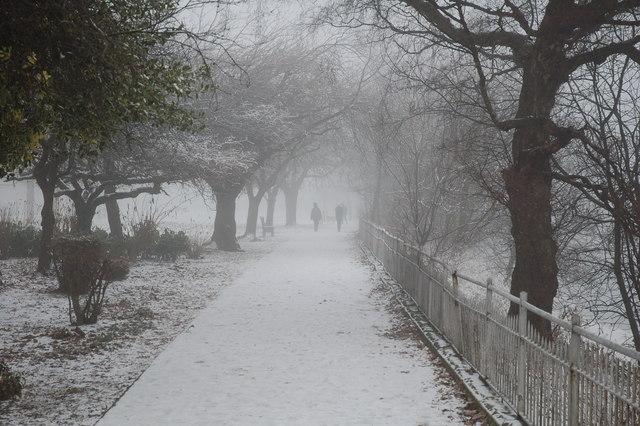 Sub zero Christmas in Riverside, Stirling