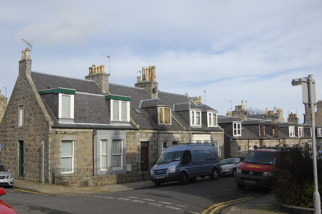Granite cottages, West Mount Street, Aberdeen