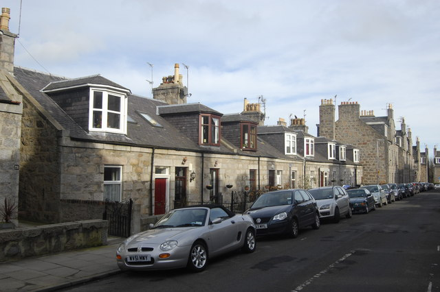 Granite terrace, West Mount Street, Aberdeen