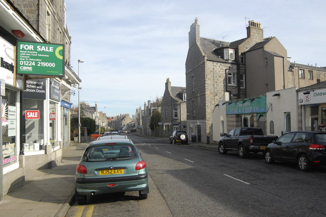 Streetscene: Rosemount Place, Aberdeen