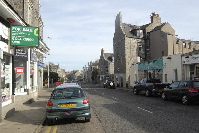 Streetscene: Rosemount Place, Aberdeen