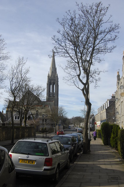 View up Mid Stocket Road, Aberdeen
