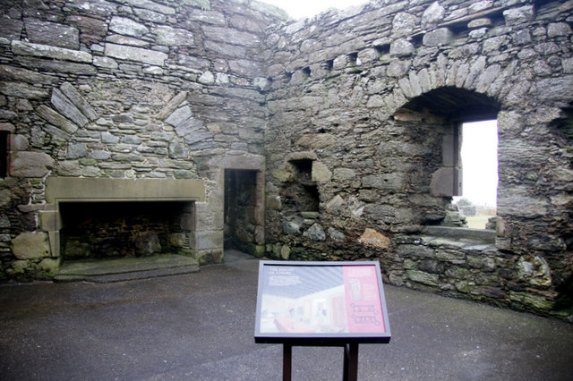 The Great Hall in Muness Castle