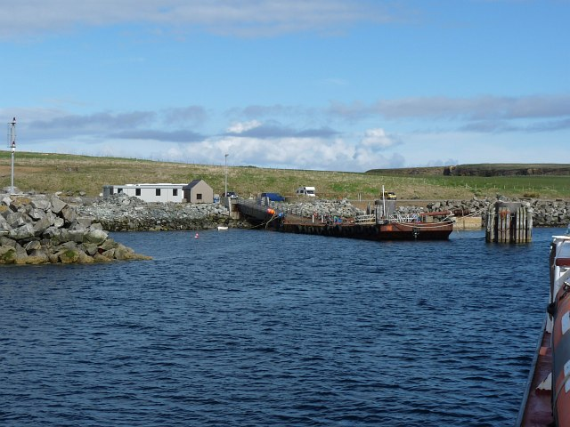 Approaching the harbour at Burwick, Orkney Islands
