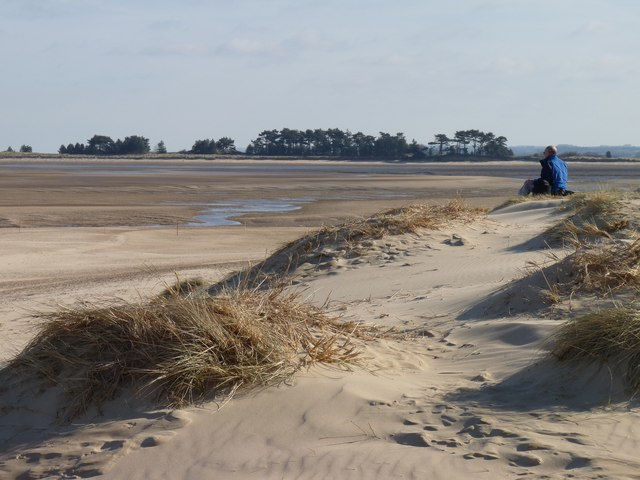 View across The Run at low tide