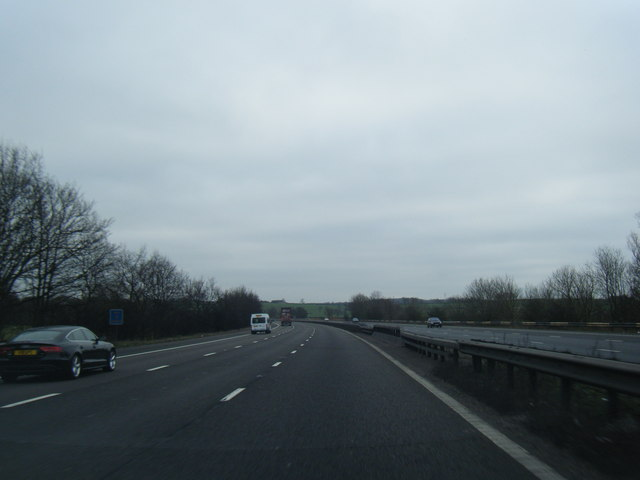M6 south near Madeley Heath