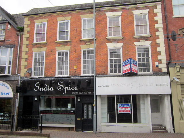 Bromsgrove High Street  India Spice & Shop to Let