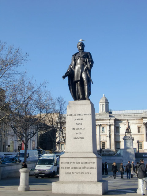 Statue of Charles James Napier, Trafalgar Square, London, SW1