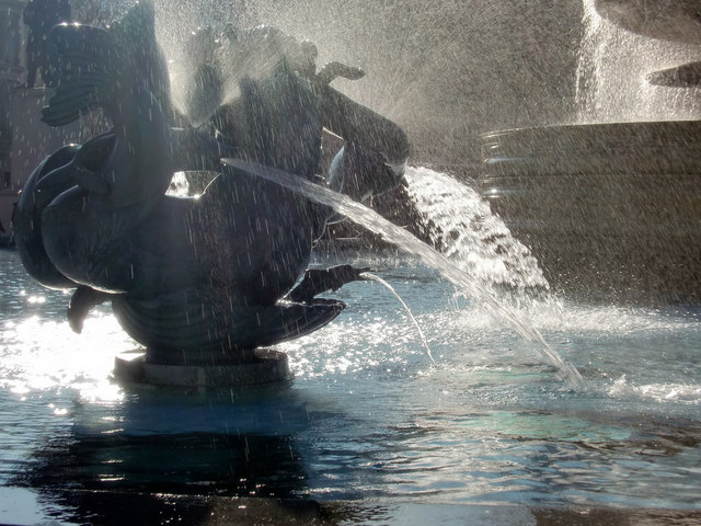 Fountain, Trafalgar Square, London SW1