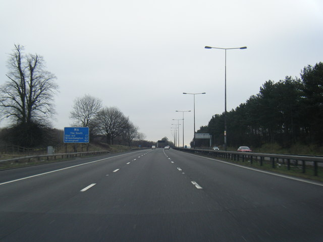 M6 south near Penfields Wood