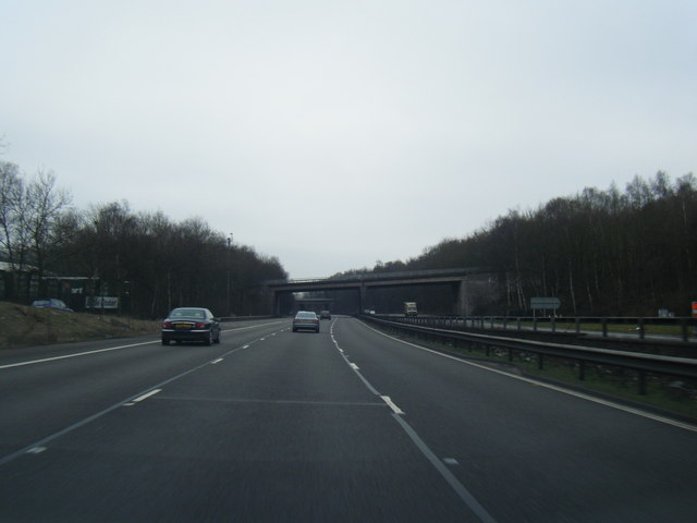 M6 southbound at junction 15