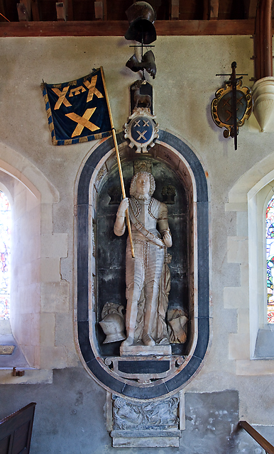 Glanville monument - church of St Peter ad Vincula, Broad Hinton
