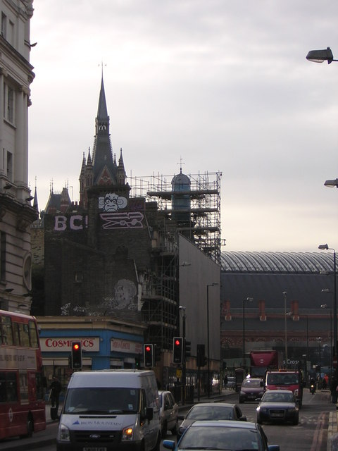 Towering over St Pancras, Gold Peg and Monkey