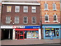 SO9570 : Bromsgrove High Street  Blythe Phillips, Betfred &amp; Thomsons by Roy Hughes