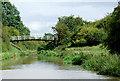 SJ6458 : Canal at Brickyard Bridge near Aston juxta Mondrum, Cheshire by Roger  Kidd