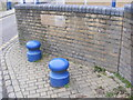 TQ4383 : Flood Defence Wall by Adrian Cable