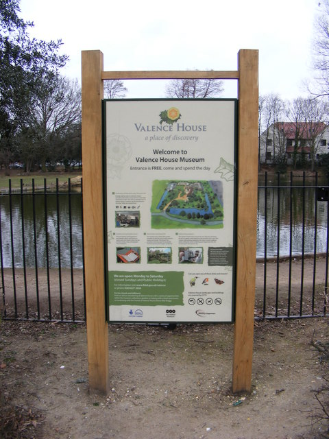 Valence House Museum sign