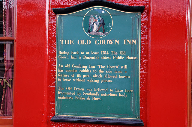 Detail from The Old Crown Inn, Penicuik