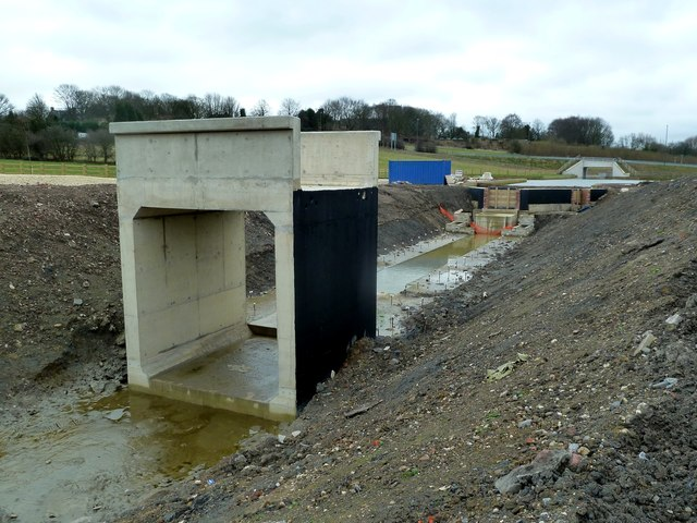 Construction of Staveley Town Lock on the Chesterfield Canal