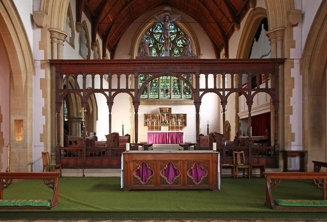 St Michael & All Angels, Abbey Wood Road, Abbey Wood - Nave altar