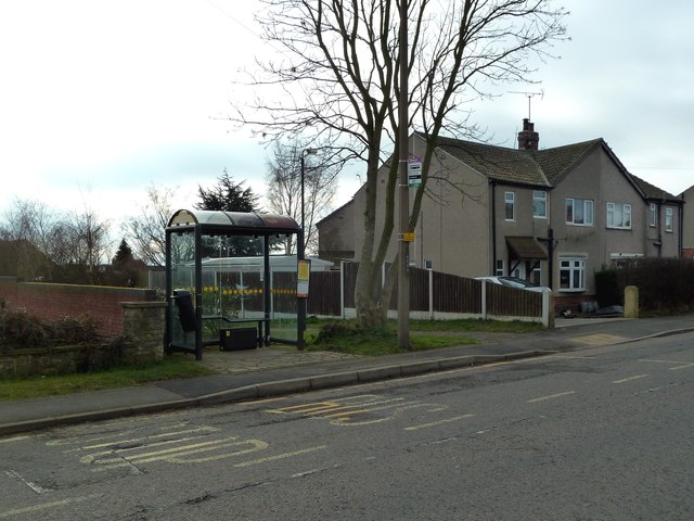 Bus shelter on Clowne Road
