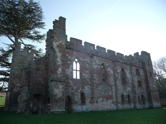 Acton Burnell Castle ruins (north wall)
