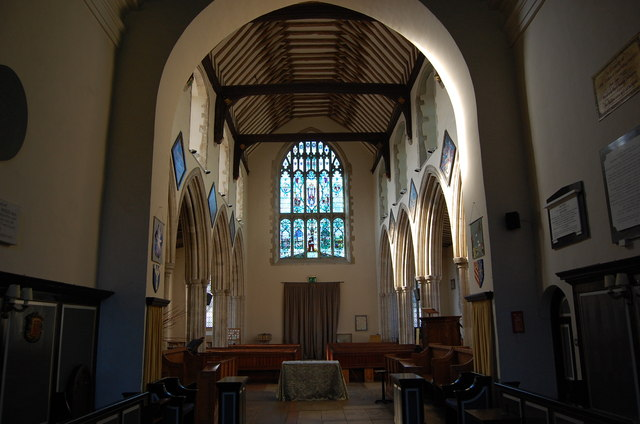 Interior looking west, Wye Church