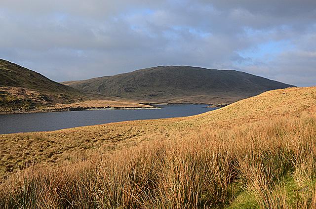 View towards Banc Llechwedd-mawr