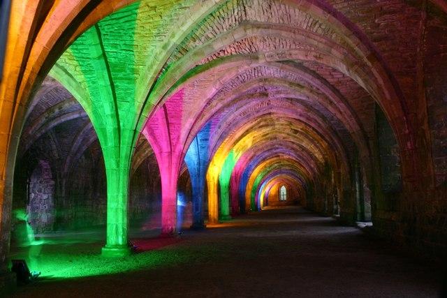 Lights Inside Fountains Abbey 169 Yvonne Wakefield Cc By Sa