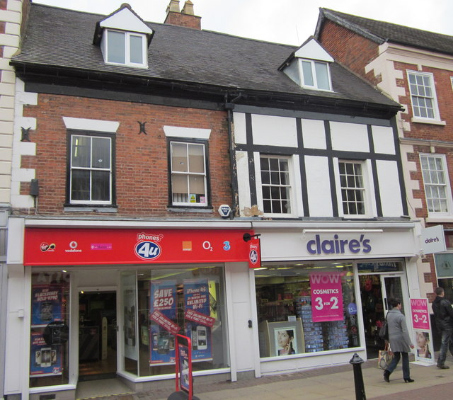 Bromsgrove High Street Phones 4U and Claire's