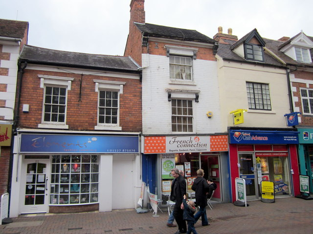 Bromsgrove High Street  Elements, French Connection & National Cash Advance
