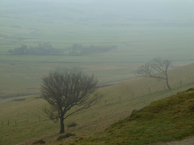 Misty view from Rushup Edge