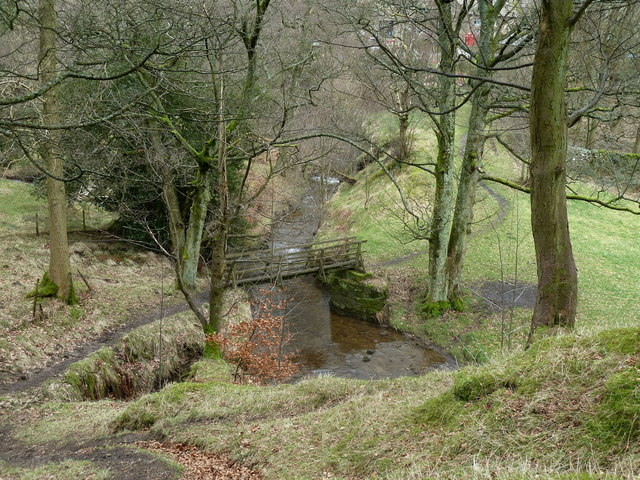 River Noe footbridge and path to Upper Booth