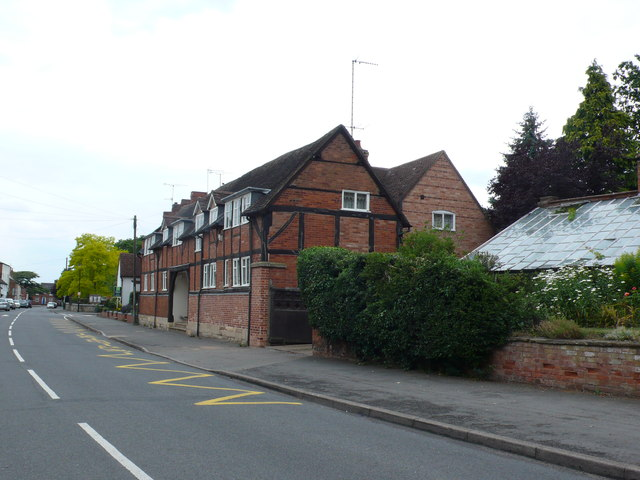Old Half Timbered Cottages, Barford