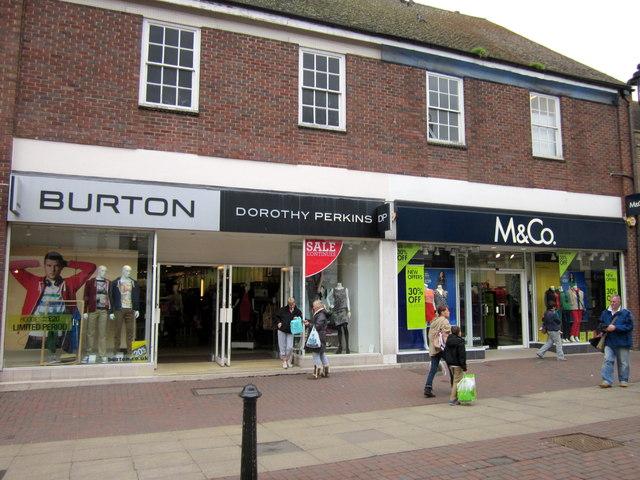 Bromsgrove High Street  Burtons Dorothy Perkins & M&Co