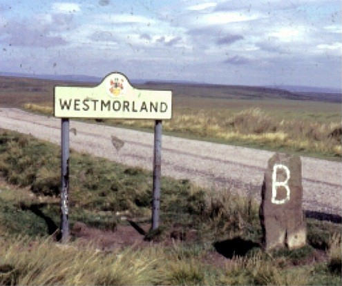 Boundary stone and Road Sign (1970)