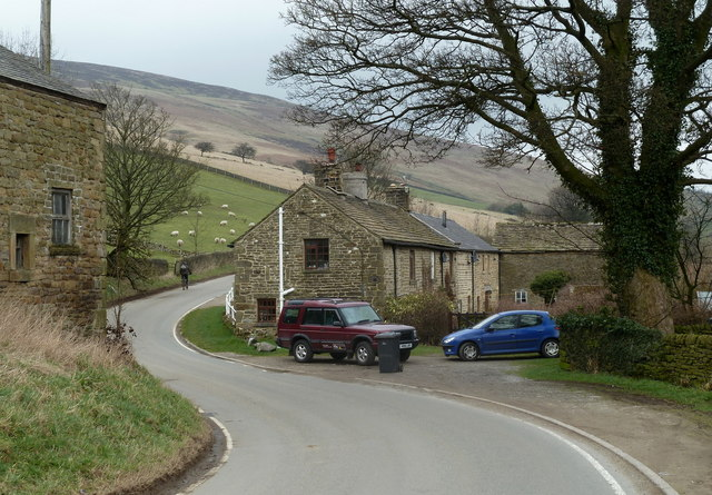 The Edale valley road through Nether Booth