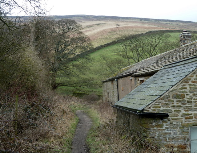 Footpath past Clough Farm