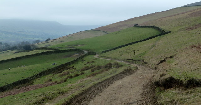 Track descending towards Clough Farm