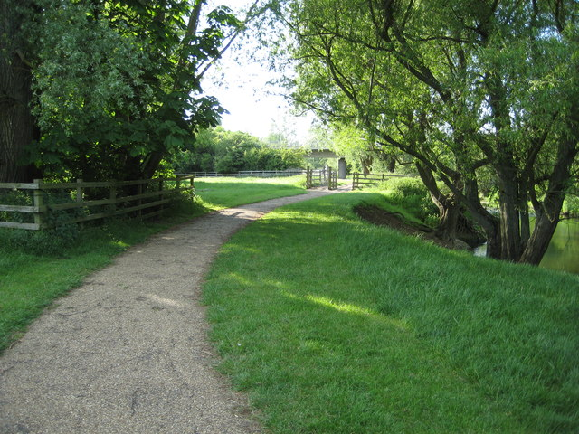 Path through the Ouzel Valley Park